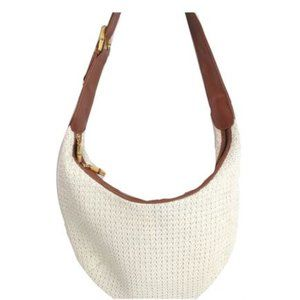 Handbags - Cream Straw Weave Hobo Large Bag